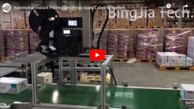 Automation Instant Printing und Press-Apply Labelling System
